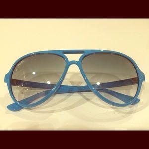 Ray Ban Turquoise Plastic Aviator Sunglasses